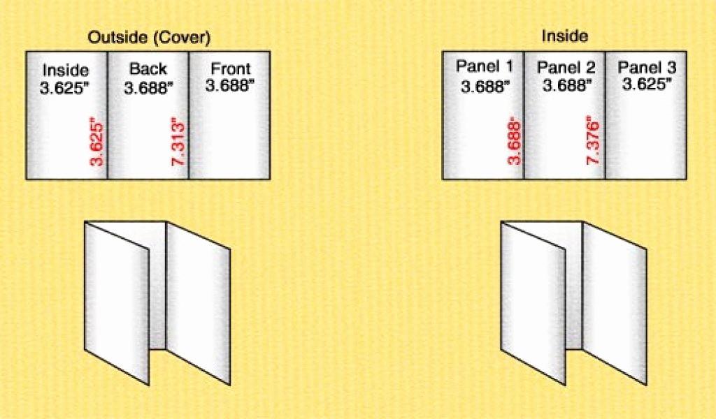 Size Of Tri Fold Brochure Inspirational Standard Tri Fold Brochure Sizes
