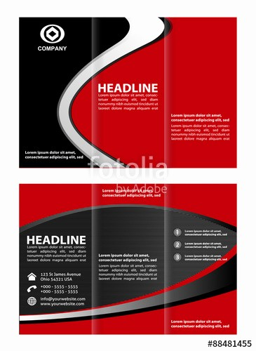 """Size Of Tri Fold Brochure Luxury """"brochure Flyer Design Vector Template In A4 Size Tri Fold"""