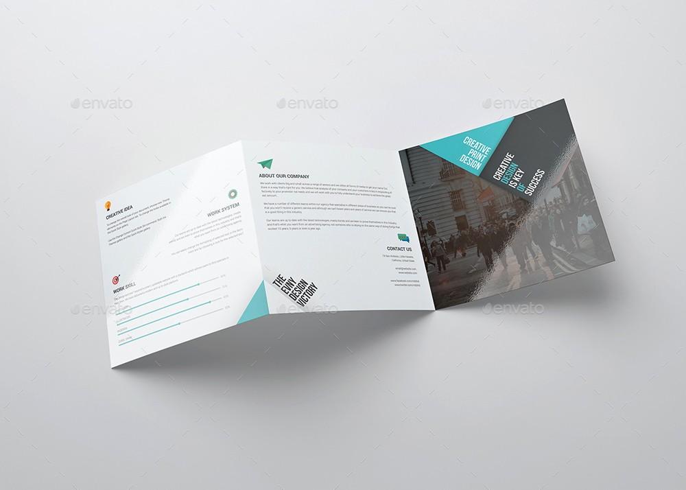 Size Of Tri Fold Brochure Luxury Square Tri Fold Brochure Template Evny Graphicriver Square