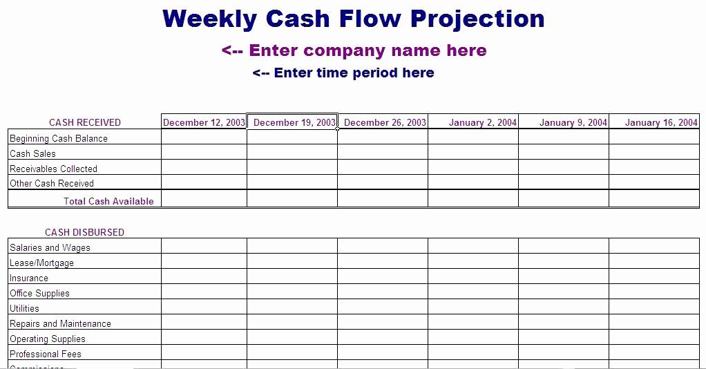 Small Business Cash Flow Projection Inspirational or Business Plan Cash Flow Projection Template – Spakti