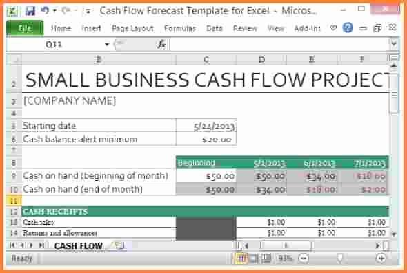 Small Business Cash Flow Projection Unique 8 Cash Flow Spreadsheet Template