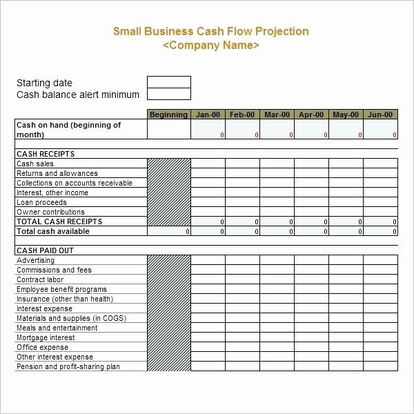 Small Business Cash Flow Projection Unique Personal Cash Flow Template Statement Example Excel Chart