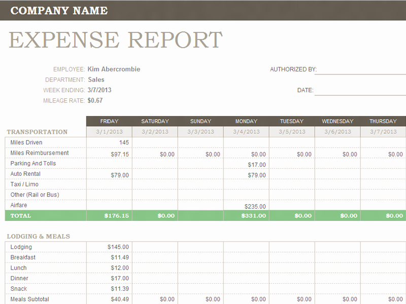 Small Business Expense Report Template Beautiful Weekly Expense Report Template Microsoft Fice Templates