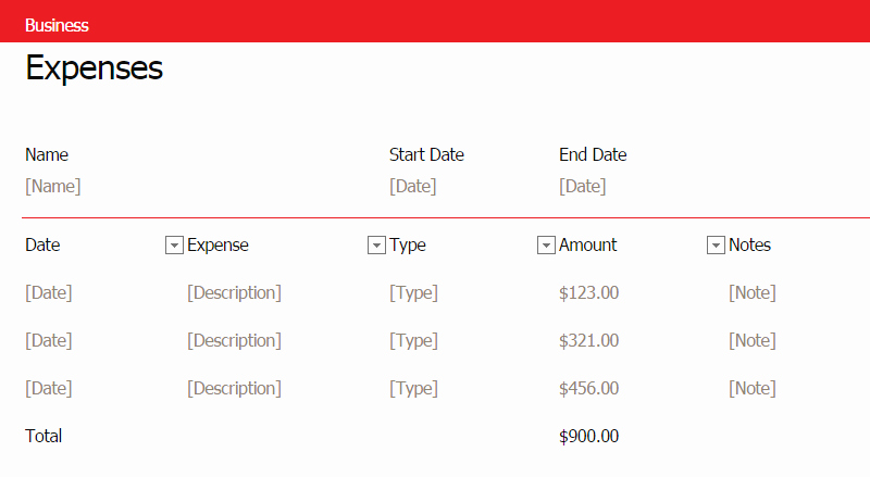 Small Business Expense Report Template Fresh Small Business Monthly Expense Report Business Expenses