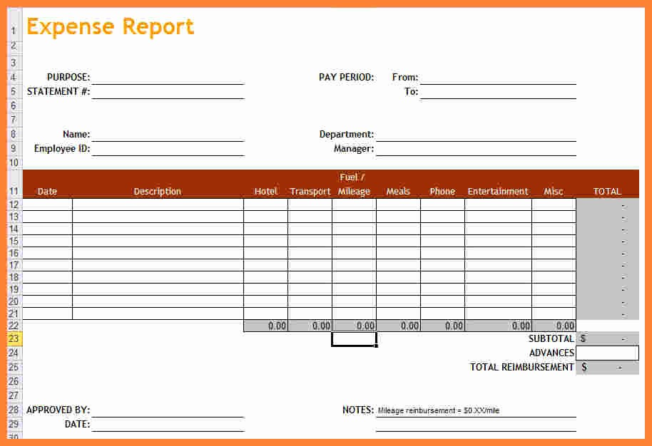 Small Business Expense Report Template New 7 Quarterly Report Template Small Business
