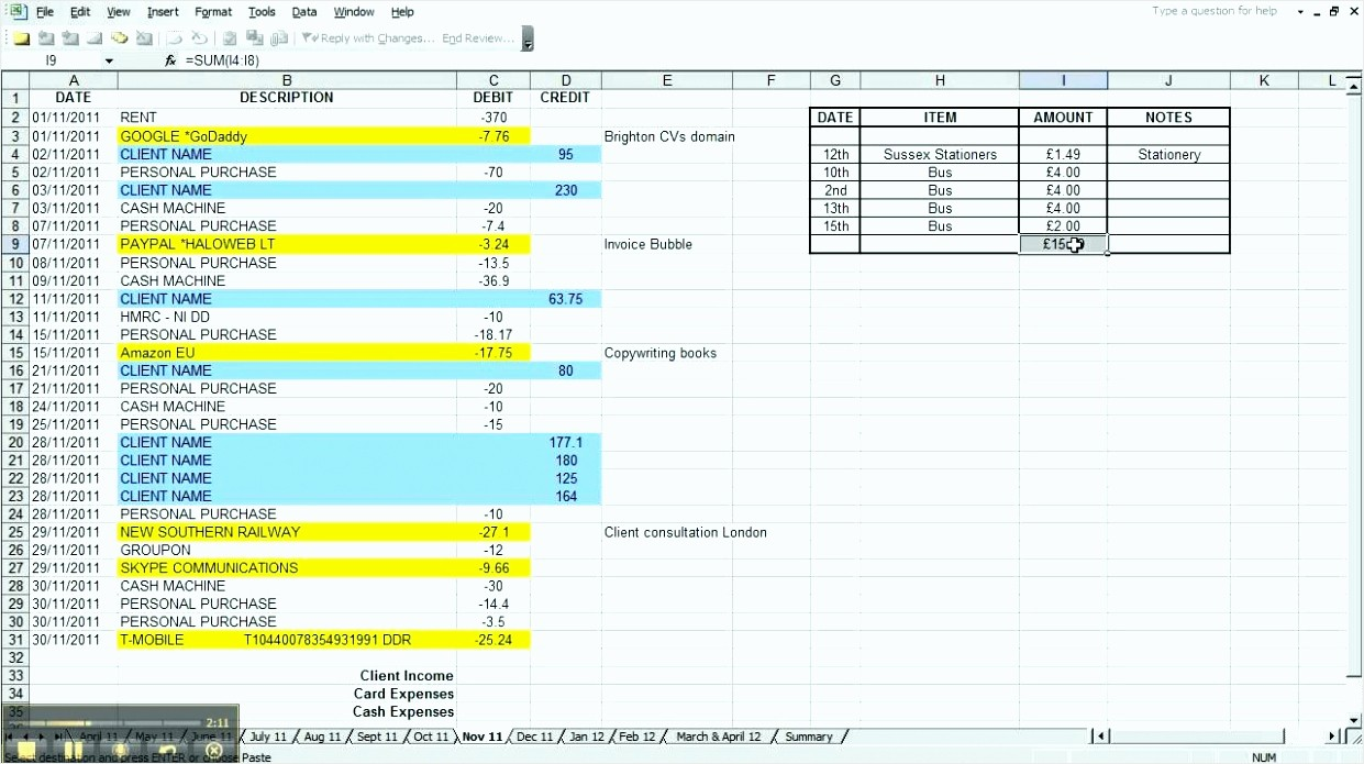 Small Business Expense Tracking Excel Lovely 8 Excel Template Business Expenses Tipstemplatess
