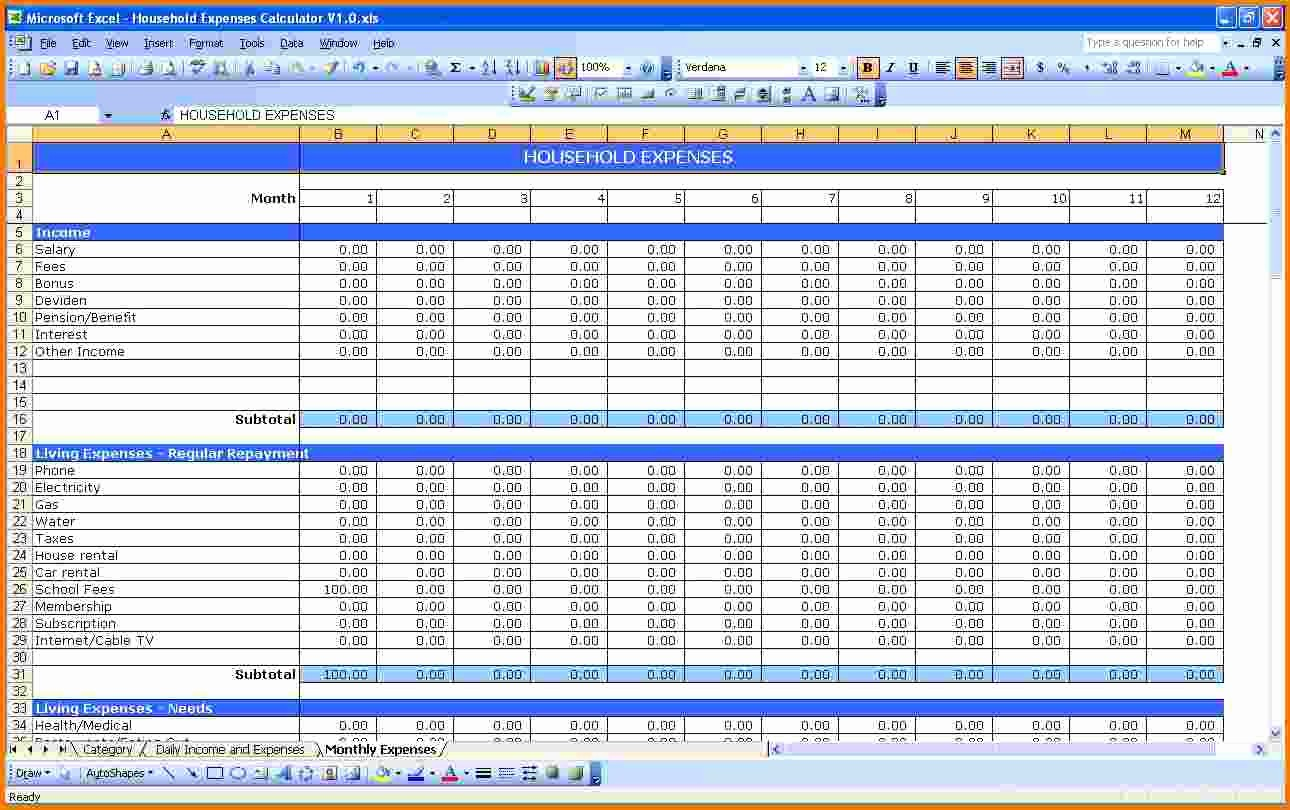 Small Business Expense Tracking Excel Luxury Expense Small Business Spreadsheet for In E and Expenses