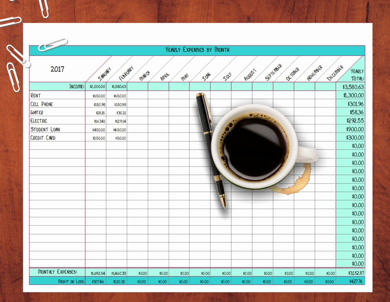 small business expense spreadsheet template 10