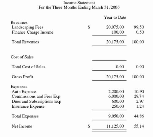 Small Business Income Statement Example Unique In E Statement