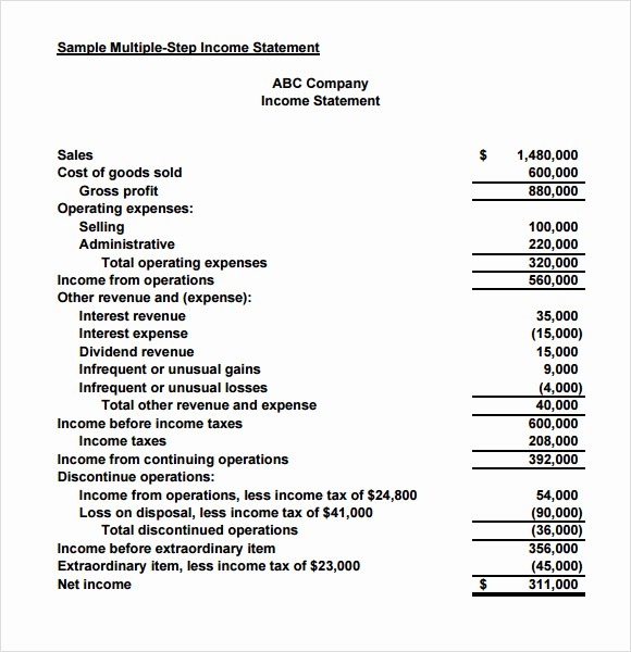 Small Business Income Statement Example Unique Sample In E Statement for Small Business Driverlayer