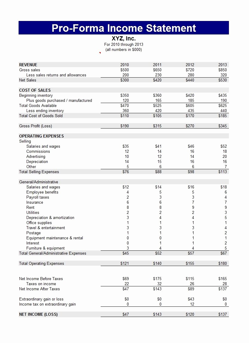 Small Business Income Statement Template Elegant 27 Free In E Statement Examples & Templates Single