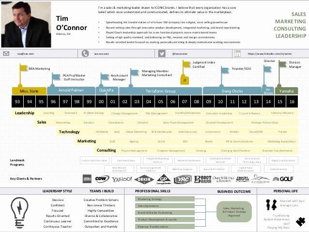 Small Business P&l Fresh Visual Cv Template De Tim O Connor