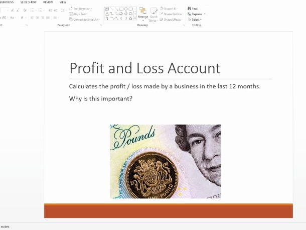 Small Business P&l New Profit and Loss Accounts Year 11 12 by Scorrigall