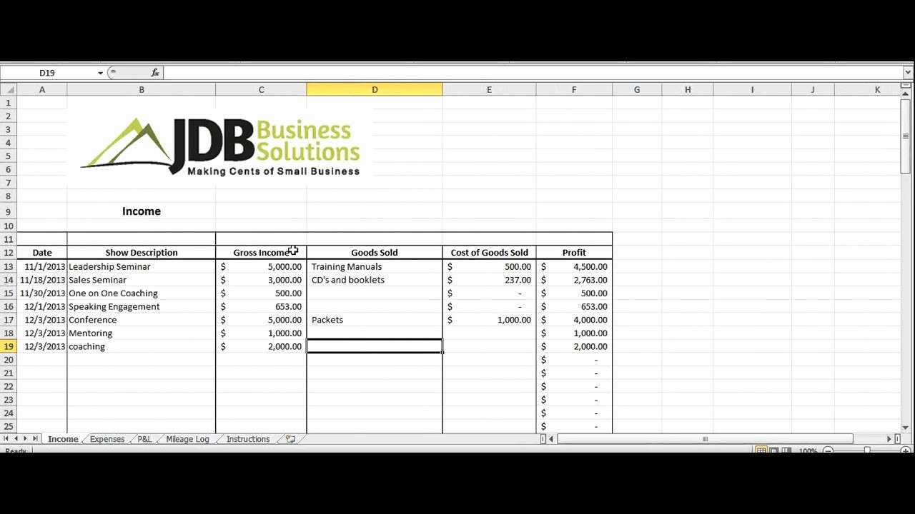 Small Business Tax Excel Spreadsheet New Accounting and Tax Spreadsheet for Entrepreneurs