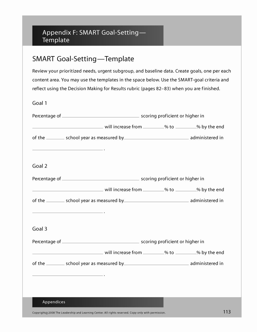 Smart Goals Template Free Download Awesome 48 Smart Goals Templates Examples & Worksheets Free