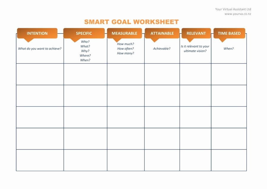 Smart Goals Template Free Download Inspirational 48 Smart Goals Templates Examples & Worksheets Template Lab