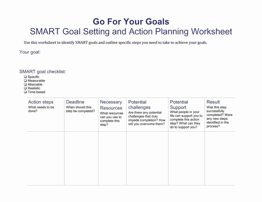 Smart Goals Template Free Download Luxury 48 Smart Goals Templates Examples & Worksheets Free