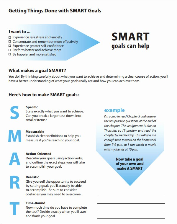 Smart Goals Template Free Download Luxury Smart Goals Template 15 Download Free Documents In Pdf