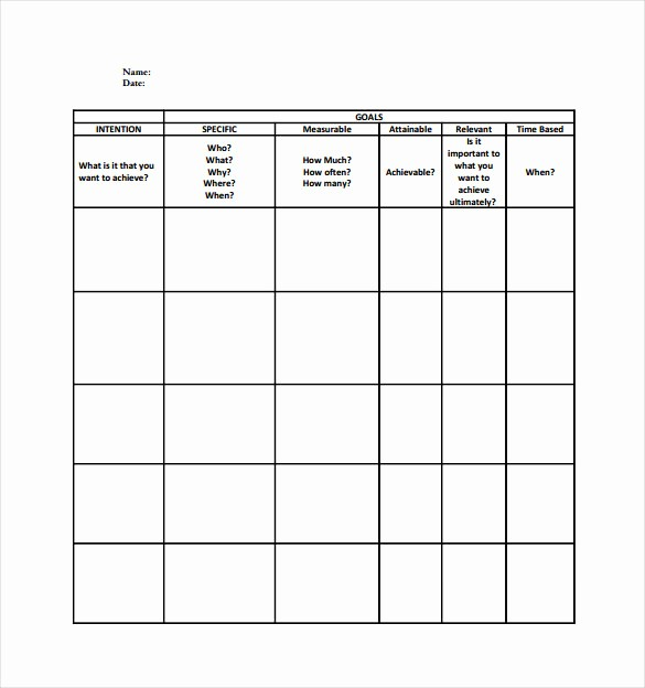 Smart Goals Template Free Download New Smart Goal Setting Work Sheet Pdf Template Free Download