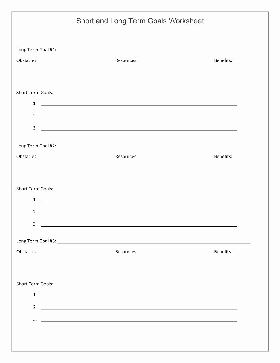 Smart Goals Template Free Download Unique 48 Smart Goals Templates Examples & Worksheets Free