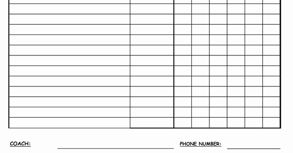 Snack Schedule Template for Baseball Best Of Snack Schedule Template