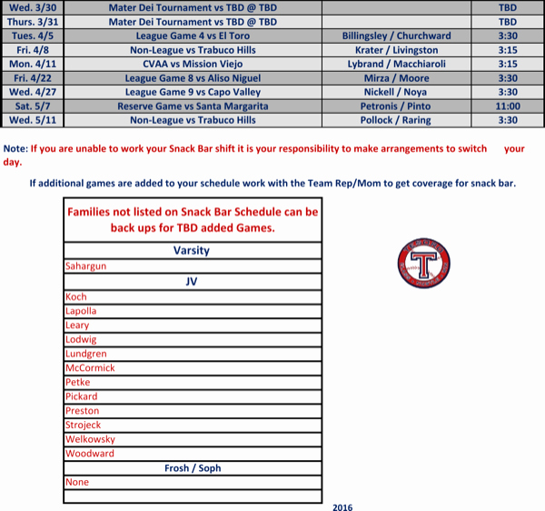 Snack Schedule Template for Baseball Elegant Download Baseball Snack Schedule Template for Free