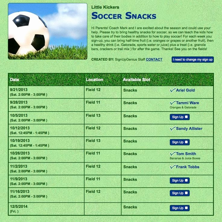 Snack Schedule Template for Baseball Inspirational Team Snacks Simplified You Ll Never Know Just How Hard