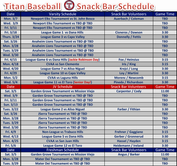Snack Schedule Template for Baseball Lovely Download Baseball Snack Schedule Template for Free
