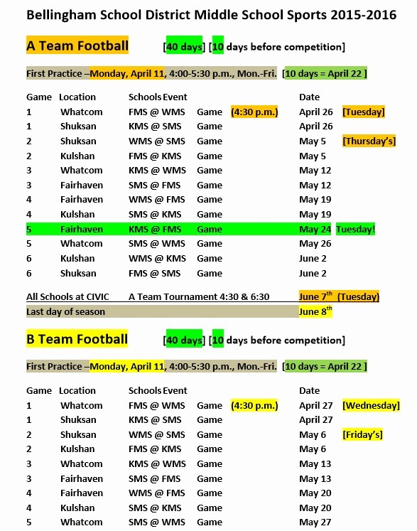 Snack Schedule Template for soccer Best Of Sports Schedule Template 9 Free Templates Schedule