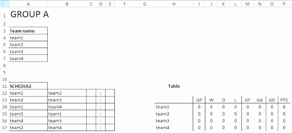 Snack Schedule Template for soccer Fresh soccer Schedule Template Us Session Match Team Roster