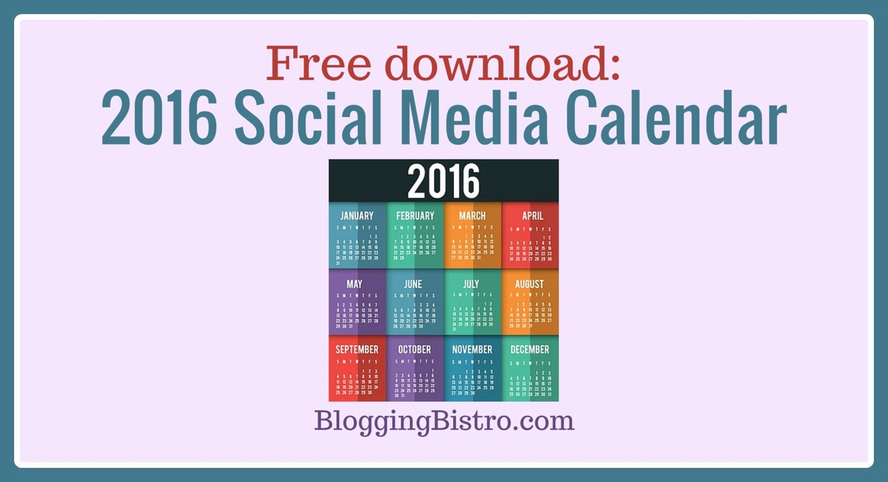 Social Media Content Calendar Templates Awesome Free Download 2016 social Media Calendar