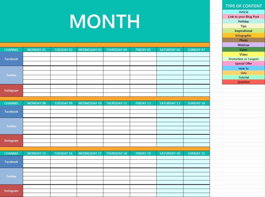 Social Media Content Calendar Templates Beautiful social Media Calendar Template