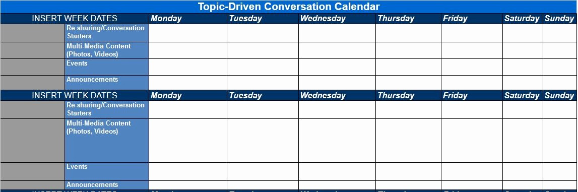 Social Media Content Calendar Templates Best Of the Best Content and social Media Calendar Templates