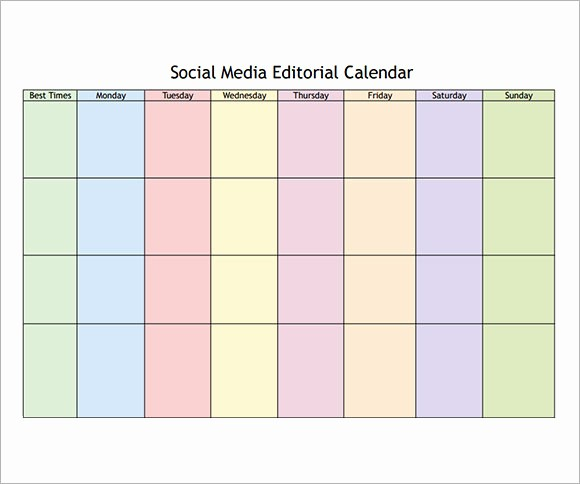 Social Media Content Calendar Templates Elegant 8 Sample social Media Calendar Templates to Download
