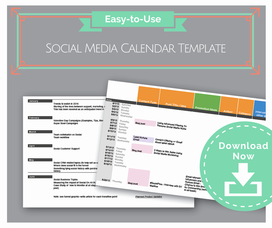 Social Media Content Calendar Templates Fresh social Media Calendar Template