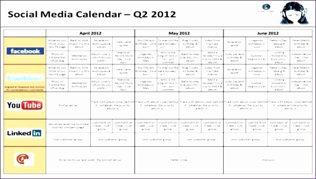 Social Media Content Calendar Templates Fresh social Media Content Calendar Template What is and Create