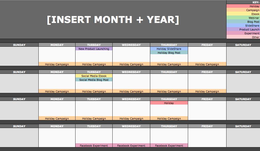 Social Media Content Calendar Templates Fresh the social Media Content Calendar Template Every Marketer