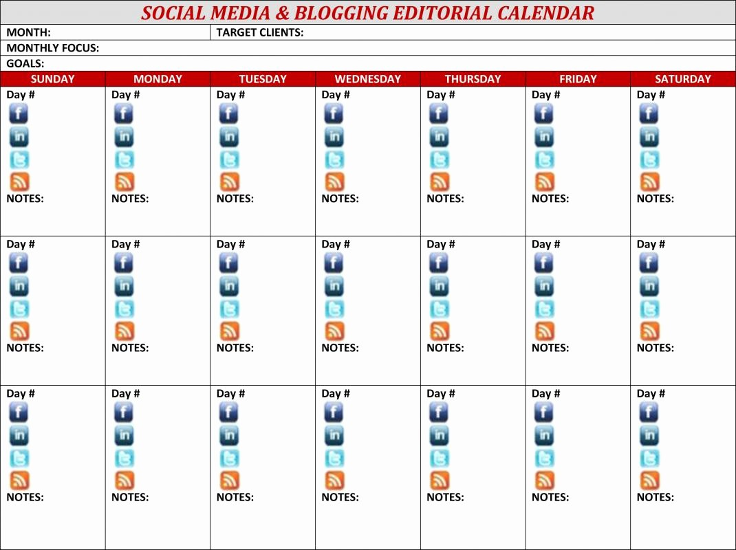 Social Media Content Calendar Templates Lovely social Media Content Calendar Template