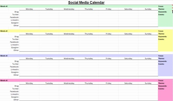 Social Media Content Calendar Templates Lovely social Media Marketing Content Calendar Wtwh Marketing Lab