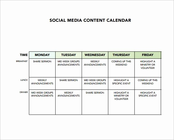 Social Media Content Calendar Templates New 8 Sample social Media Calendar Templates to Download