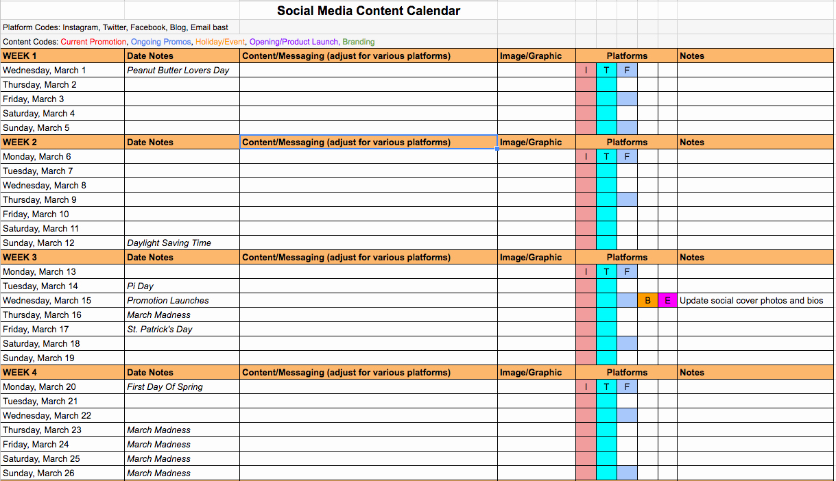 Social Media Content Calendar Templates New Creating A Better social Media Content Calendar