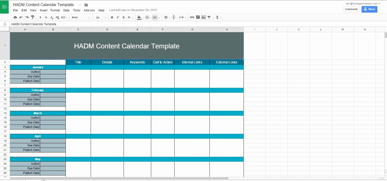 Social Media Content Calendar Templates New social Media Content Calendar Template