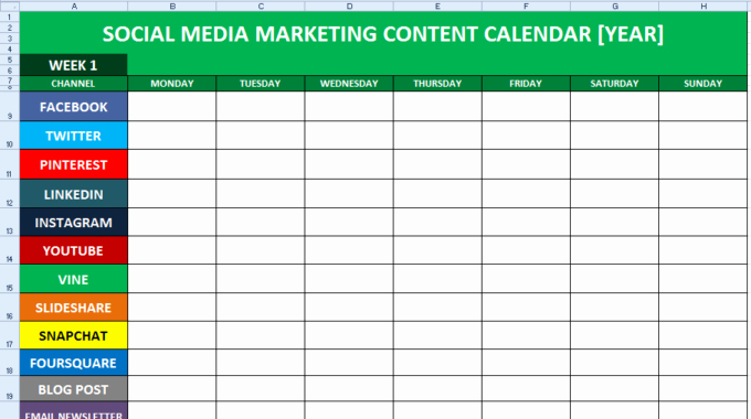 Social Media Content Calendar Templates Unique How to Create A social Media Content Calendar