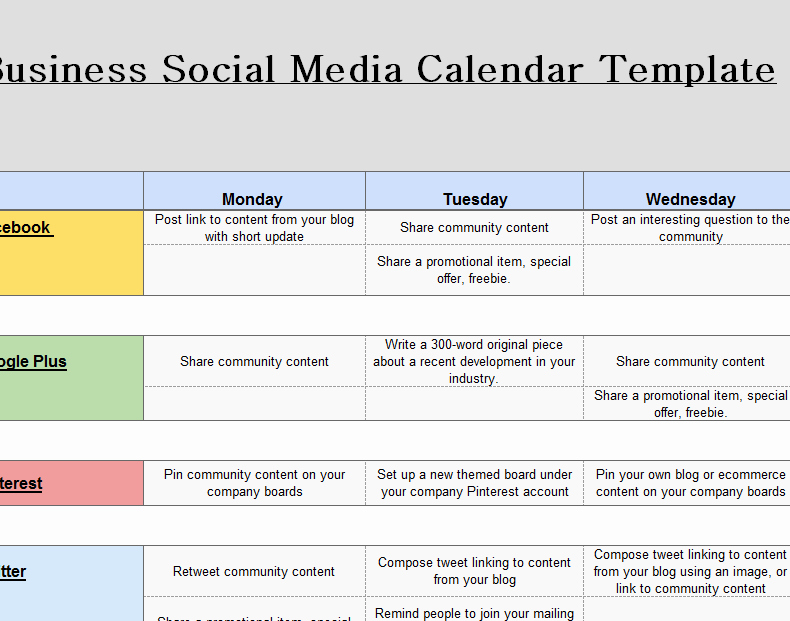 Social Media Post Schedule Template Awesome 2016 social Media Marketing Calendar My Excel Templates