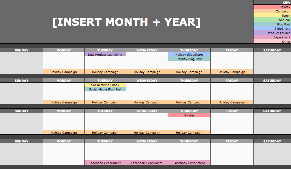Social Media Post Schedule Template Awesome How to Create and Fill Your social Media Calendar for A Year
