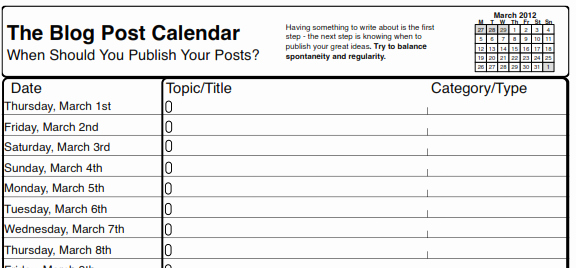 Social Media Post Schedule Template Fresh social Media Schedule Template 10 Free Sample Example