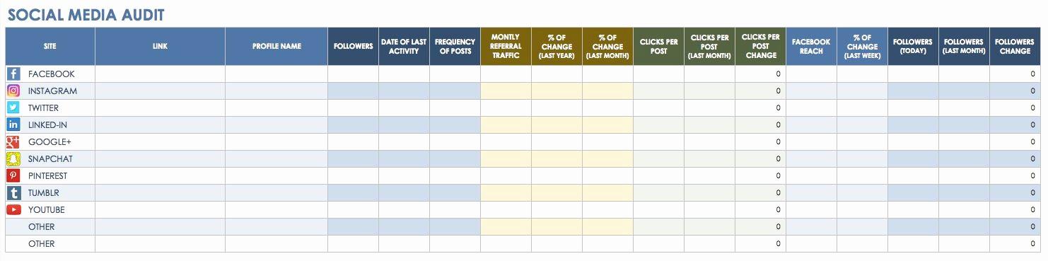 Social Media Post Schedule Template Inspirational social Media Calendar Excel