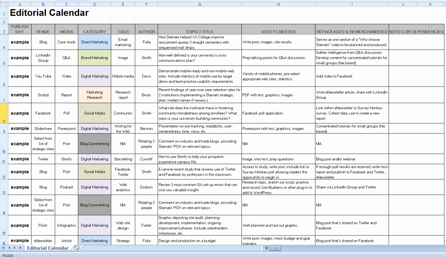 Social Media Post Schedule Template Lovely How to Streamline Your social Media with An Editorial
