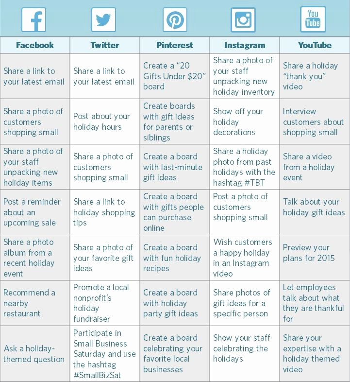 Social Media Post Schedule Template Luxury How to Create A Holiday social Media Calendar