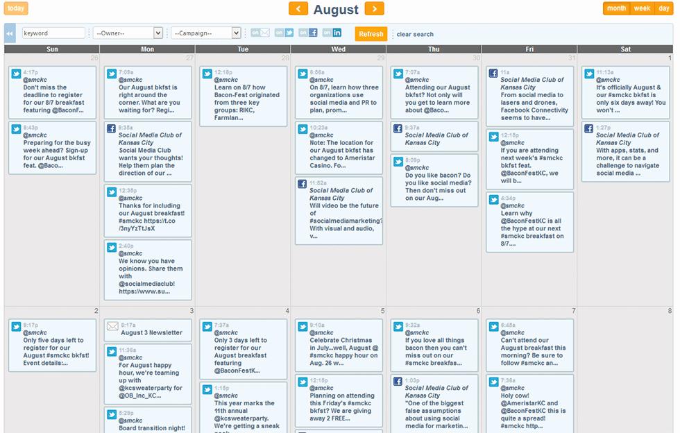 Social Media Post Scheduler Template Beautiful Marketing Calendar Emfluence Marketing Platform